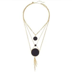 Rebecca Minkoff Leather Inlet Necklace